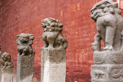 Stone lions Royalty Free Stock Images
