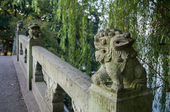 Stone lions Stock Image
