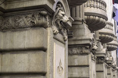 Stone lions. The building of stone lions Royalty Free Stock Photography