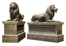 Stone lions Stock Photos