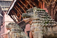 Free Stone Lions In Patan Royalty Free Stock Image - 18153036