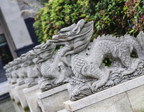 Stone lions in a park,chengdu,china Stock Images