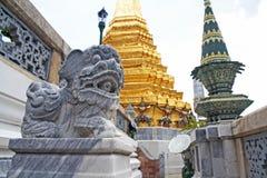 Stone Lions at  Wat Phra Kaew, Bangkok. Royalty Free Stock Photos
