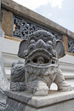 Stone Lions at  Wat Phra Kaew, Bangkok. Royalty Free Stock Photos