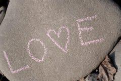 Stone love stock photo