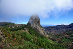 The stone of Love. Panorama of the Loverock on Tenerife Stock Photos