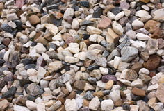 Stone macadam. Background of stone macadam of different colors Royalty Free Stock Photos