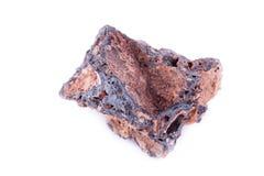 Stone macro mineral goethite on a white background. Close up Stock Image