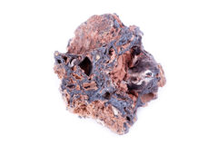 Stone macro mineral goethite on a white background Royalty Free Stock Photos