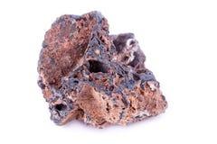 Stone macro mineral goethite on a white background. Close up Royalty Free Stock Photography