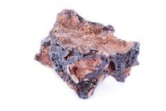 Stone macro mineral goethite on a white background. Close up Stock Photography