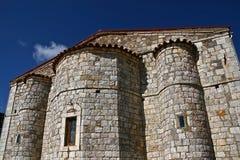 Stone made. Orthodox ancient church,Greece stock photos