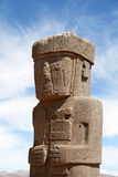 Stone Man in Tiwanaku, Bolivia Stock Image