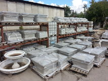 Stone manufacture yard Stock Photos