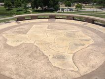Stone Map of Texas Stock Photo