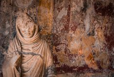 Stone. Marble statue from Pompeii, Italy Stock Image