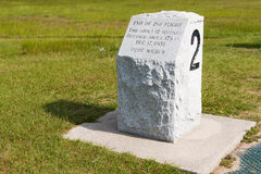 Stone Marker For Second Landing Site of Wright Brothers Stock Photography
