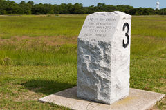 Stone Marker For Third Landing Site of Wright Brothers Royalty Free Stock Images