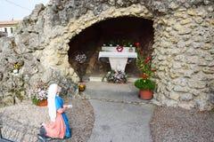 Stone Mary sanctuary in Veneto, details, north Italy Royalty Free Stock Photos