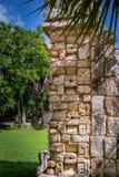 Stone mask at Chichen Itza - Yucatan, Mexico Royalty Free Stock Image