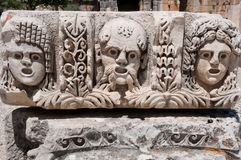 Stone mask in Myra (Turkey ) Royalty Free Stock Photos