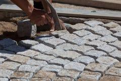 Stone mason Stock Images