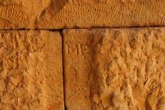 Stone mason's initials Royalty Free Stock Photos
