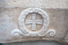 Stone masonic symbol Royalty Free Stock Image