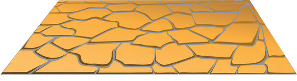 Stone masonry in perspective. Vector orange stone masonry in perspective Royalty Free Stock Photos