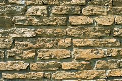 Stone masonry with rich and various texture Royalty Free Stock Image