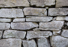 Stone masonry with rich and various texture Stock Photography