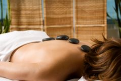 Stone massage Stock Photo