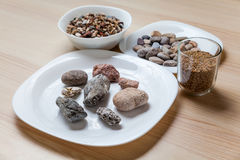 Stone meal on a table Stock Photo