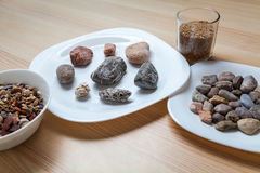 Stone meal on a table Royalty Free Stock Photography