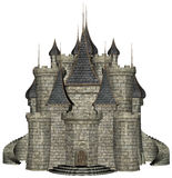 Stone Medieval Castle Illustration Isolated Royalty Free Stock Photo