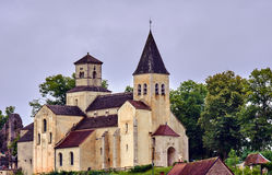 Stone and medieval church in a small town Stock Photography