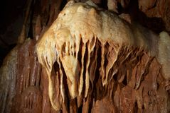 Stone medusa in the cave. With beautiful nature decoration Royalty Free Stock Images