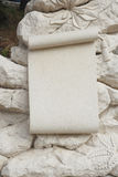 Stone memorial banner dolomite. Stone memorial bannerl dolomite, background Stock Photo