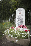 Stone in memory of the 13th Lancashire Battalion, Bure Stock Photography