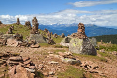 Stone men in the alps, Italy Royalty Free Stock Photo