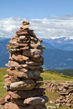 Stone men in the alps, Italy Royalty Free Stock Photos
