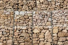 Stone in mesh Royalty Free Stock Photography