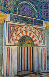 The stone mihrab Stock Image