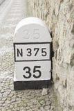 Stone mileage Stock Images