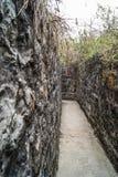 Stone military corridor Royalty Free Stock Photos