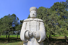 Stone minister statue in the Eastern Royal Tombs of the Qing Dyn Royalty Free Stock Photography