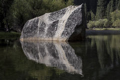Stone of Mirror Lake. Reflection of a stone in Mirror Lake Royalty Free Stock Images