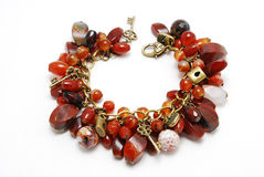 Stone mix bracelet Royalty Free Stock Photography