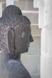 Stone monk statue Royalty Free Stock Photo