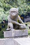 The stone monkey Royalty Free Stock Images
